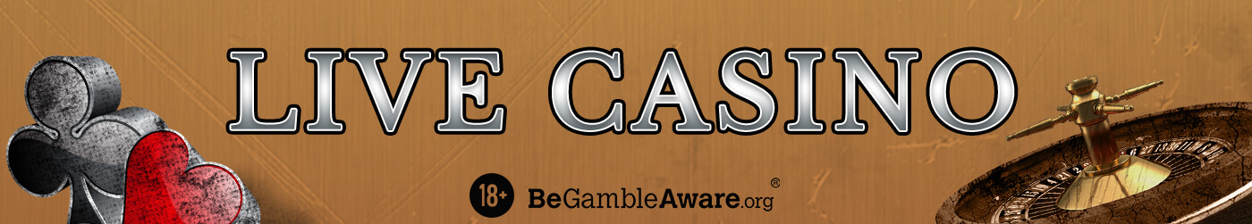 Play Online Live Casino Game at Castle Jackpot UK - Banner