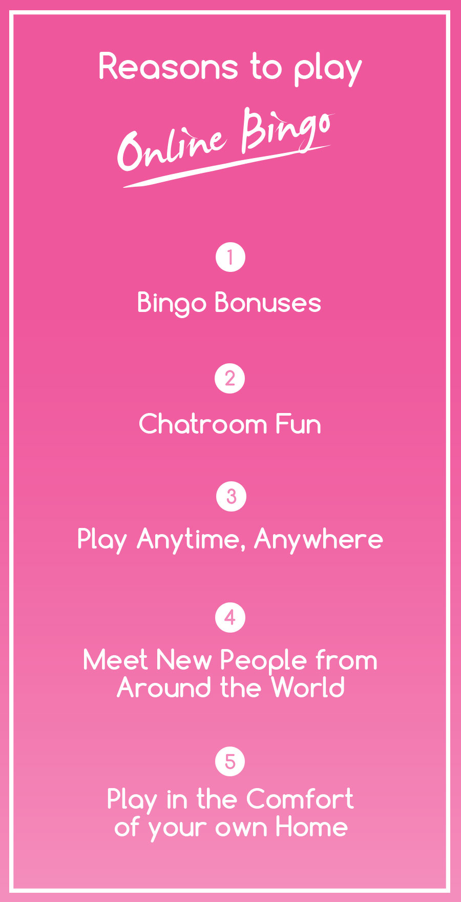 Reasons to Play Online Bingo