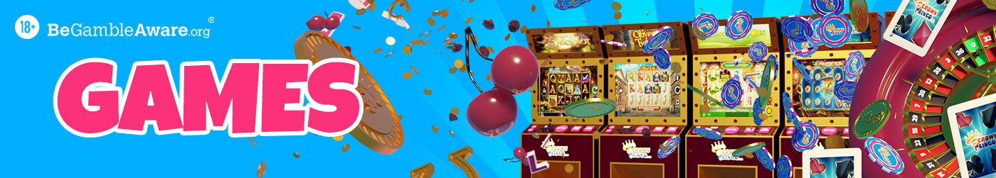Online Slots and Casino Games Banner