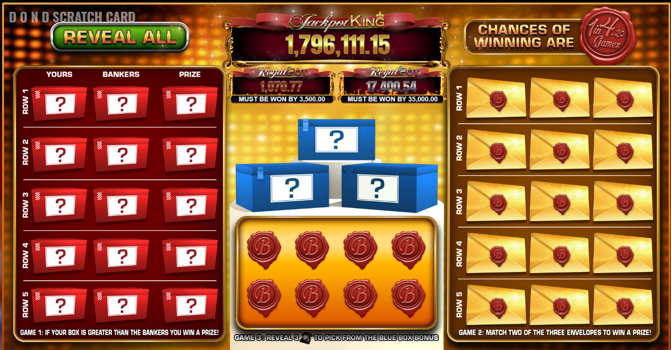 Play Deal or No Deal Scratchcard Online at Crown Bingo