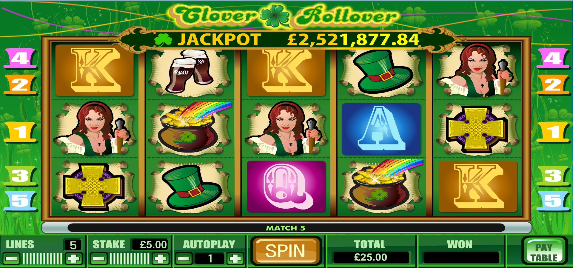Play Clover Rollover Online | Grosvenor Casinos
