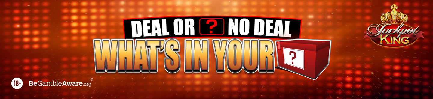 Deal or No Deal: What's in Your Box? Jackpot King slot at Pink Casino