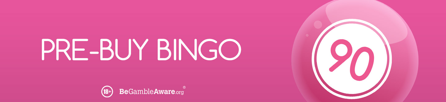Pre buy bingo bonus 90 ball at Pink Casino