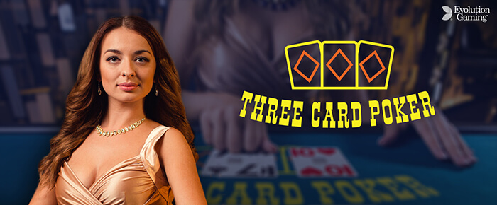 Live Three Card Poker online casino UK