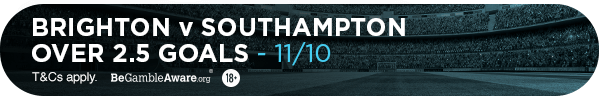 **TM's bet: Over 2.5 goals - 11/10**