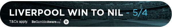 **TM's bet: Liverpool to win to nil - 5/4**
