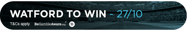 TM's Bet: Watford to win (27/10)