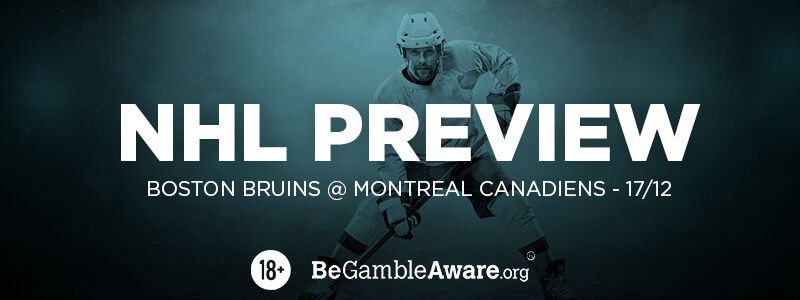 Bruins v Canadiens 2018 Preview