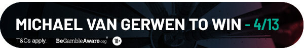 Michael van Gerwen to win 4/13*