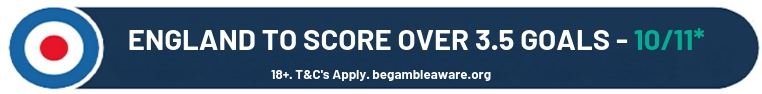England To Score Over 3.5 Goals