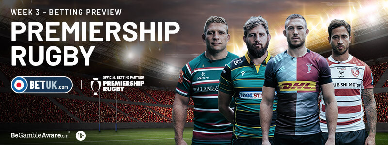 Premiership Rugby Week 3 Betting Preview