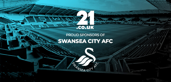 21.co.uk are proud sponsors of Swansea City