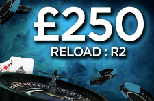 Get your second £250 Reload Bonus with 21.co.uk now!