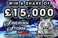 Siberian Storm Dual Play Cash Giveaway