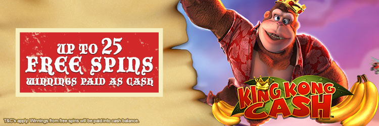 King Kong Cash Free Spins