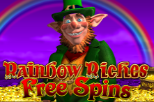 Play Rainbow Riches Free Spins slot at Crown Bingo